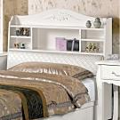 文創集 戴森 法式白3.5尺皮革單人加大床頭箱(不含床底&床墊)-106.5x24x113.5m免組