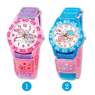 Sanrio三麗鷗自黏休閒織帶手錶33mm-雙星仙子KIKILALA(兩款任選)