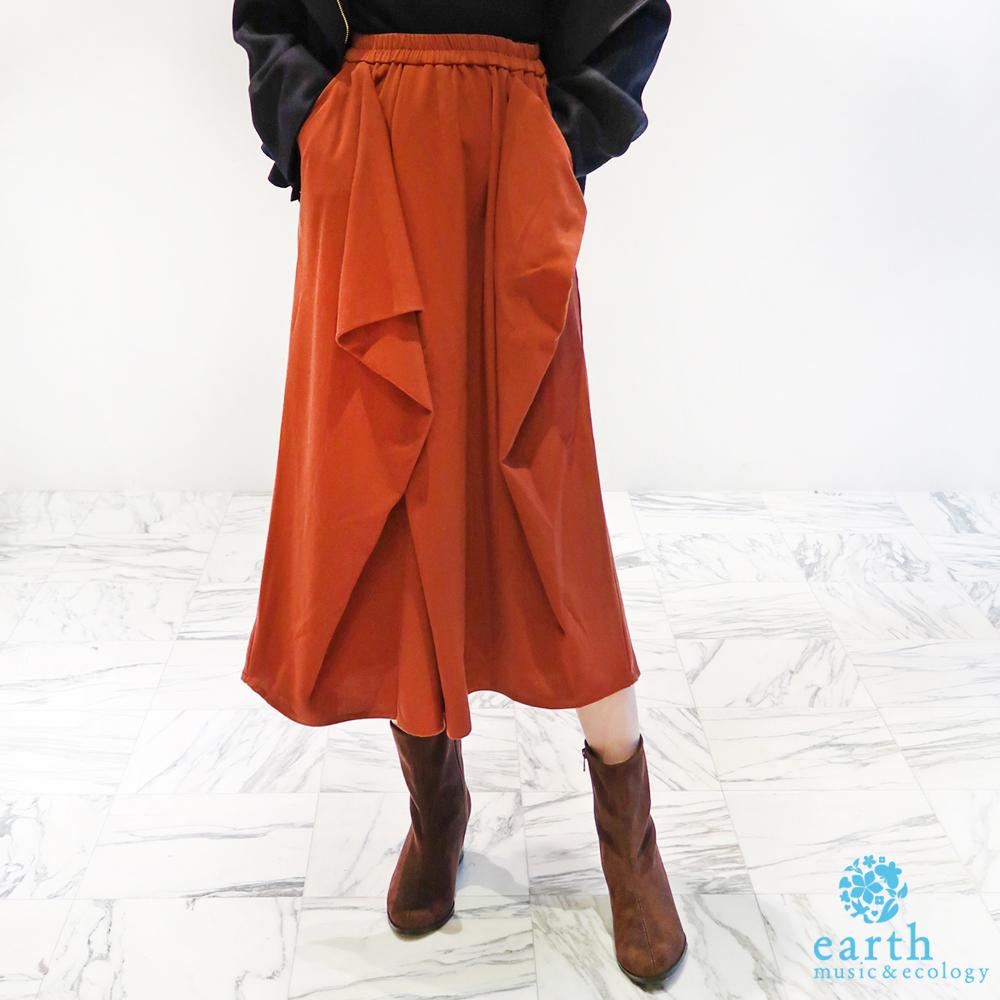 earth music 多色剪裁寬褲