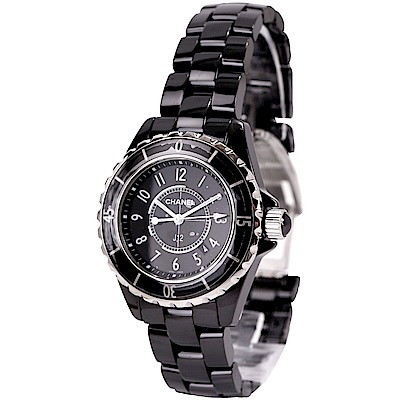 CHANEL J12 H0682 黑色精密陶瓷精鋼腕錶-33mm