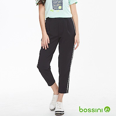 bossini女裝-休閒針織長褲01黑