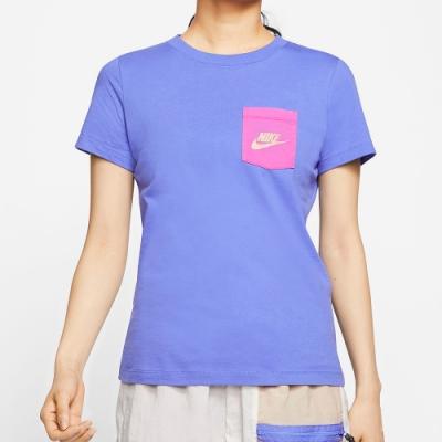 NIKE 短袖上衣 女款 休閒 運動 健身 紫 CT8855500 AS W NSW TEE ICON CLASH
