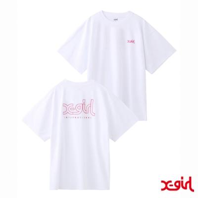 X-girl EMBROIDERY MILLS LOGO S/S MENS TEE短袖T恤-白