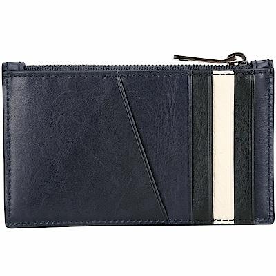 BALLY TENLEY 經典條紋拼色萬用零袋/卡片夾(海軍藍)