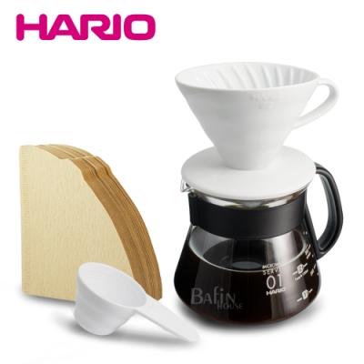 HARIO V60 2人份陶瓷濾杯/濾紙/咖啡壺組