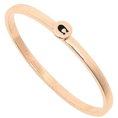COACH 經典LOGO 時尚新款手環-玫瑰金