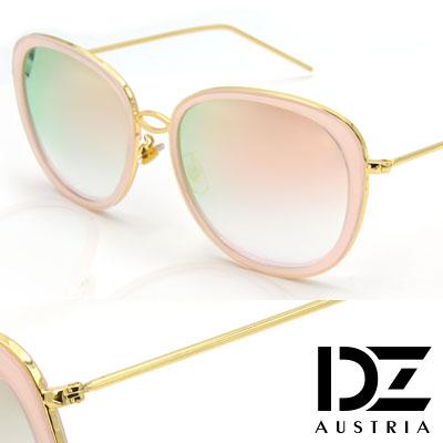 DZ 風華圓舞曲 抗UV 防曬偏光 太陽眼鏡墨鏡(粉框幻粉膜)