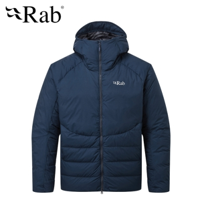 【RAB】Infinity Light 防潑水保暖羽絨外套 男款 墨藍 #QDN77