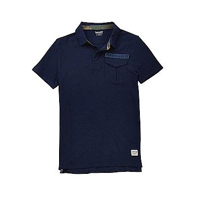 Timberland 男款深藍色迷彩印花短袖POLO衫|A1LZBJ38