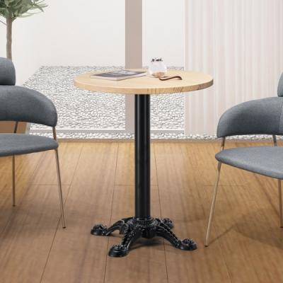 Boden-柯瑞2尺工業風圓型實木餐桌/洽談桌/休閒桌