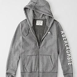 AF a&f Abercrombie & Fitch 外套 T恤 灰色 0975