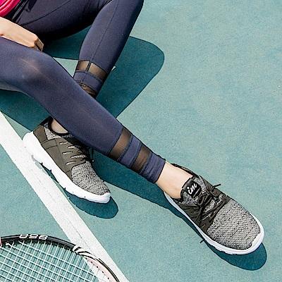 太空羽絨極輕系列~混色透氣網布拼接皮革運動鞋.3色-OB大尺碼