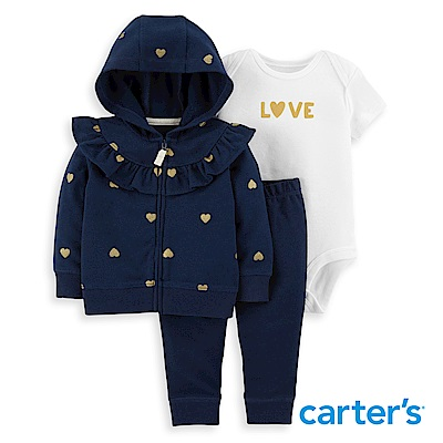 Carter's  愛心荷葉3件組套裝