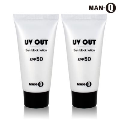 MAN-Q 極效舒活防曬水乳液SPF50 x2入(80g)