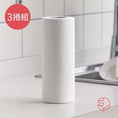日本霜山 可水洗重複用吸水吸油/擦碗/擦臉萬用紙巾-3捲組