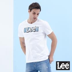 Lee 短T 牛仔Logo印花 圓領T 男款-白色