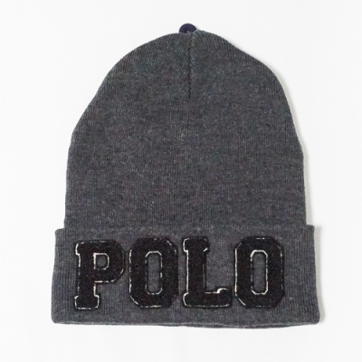 Polo Ralph Lauren 熱銷經典Logo凸字毛帽 - 深灰色
