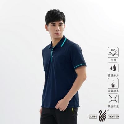 【遊遍天下】MIT男款吸濕排汗抗UV機能POLO衫GS1001丈青藍