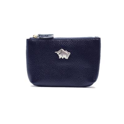 DRAKA 達卡 - 真皮R系列-卡片零錢包-藍