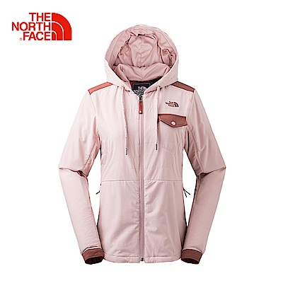 北面 粉色防潑水保暖外套