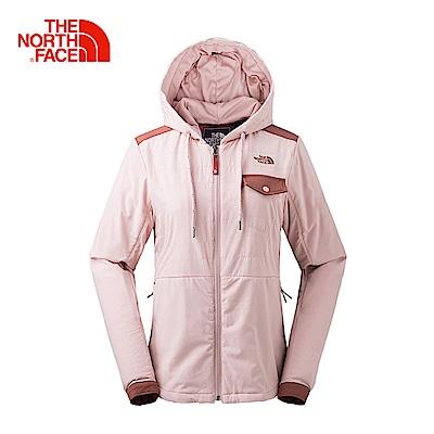 The North Face北面女款粉色防潑水保暖休閒外套 3L753YM
