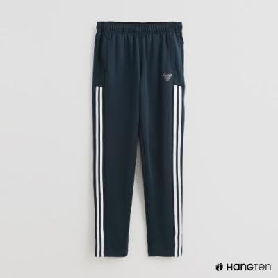 Hang Ten-童裝-側邊線條造型運動長褲-藍綠
