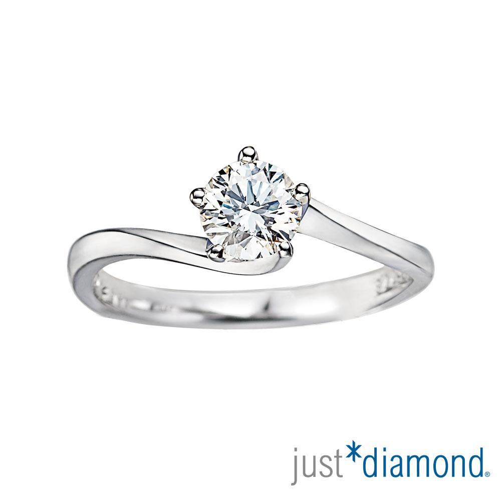 Just Diamond GIA 0.3克拉 18K金鑽石戒指-情挑