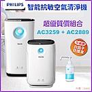 PHILIPS飛利浦 智能抗敏空氣清淨機 優質組合 AC3259+AC2889