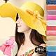 韓版大帽簷遮陽帽子 抗UV太陽帽 造型草帽-(快) product thumbnail 1