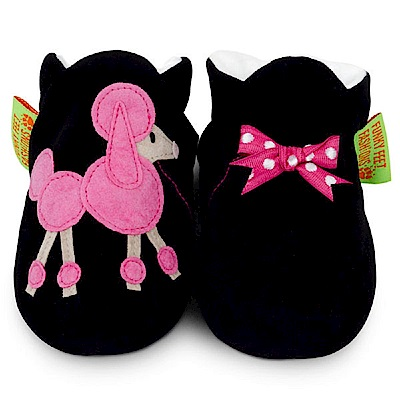英國 Funky Feet 手工學步鞋 室內鞋 粉紅貴賓狗 6-24M