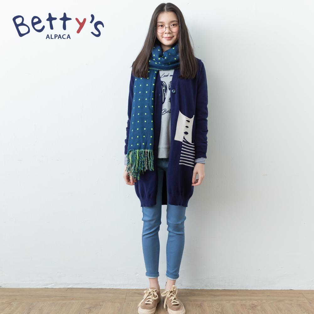 betty's貝蒂思 時尚剪洞彈性長褲(藍色) @ Y!購物