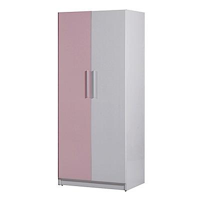 文創集 凱旋環保2.7尺塑鋼單吊衣櫃(五色)-81.5x61.5x200cm-免組