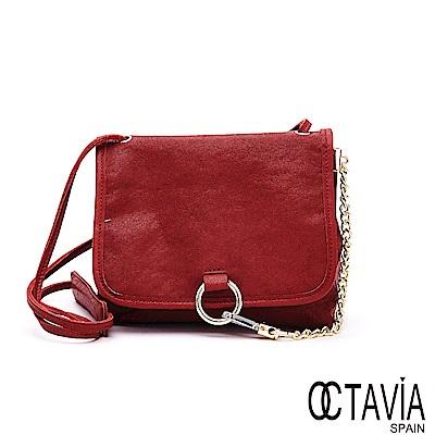 OCTAVIA 8 真皮 - 卡門之舞 環扣鍊條羊皮肩斜背包  - 卡門紅
