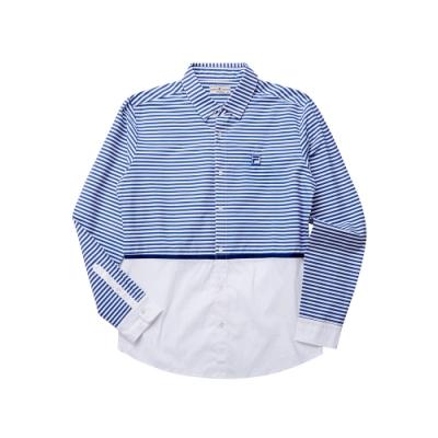 FILA 男長袖襯衫-白色 1WST-5702-WT