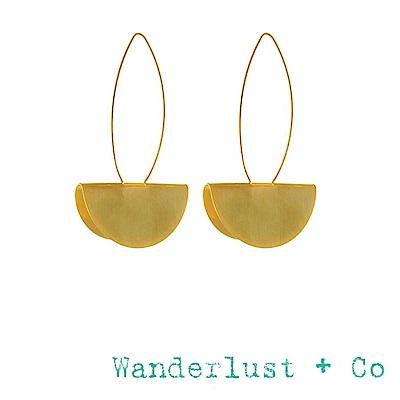 Wanderlust+Co 金色立體半圓形耳環 達利超現實風格耳環 DALI DROP