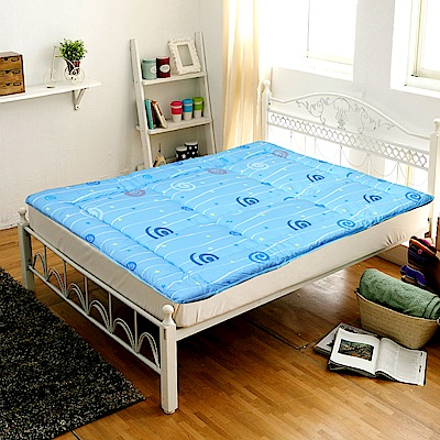 Gloria 日式記憶釋壓床墊  雙人 五尺(藍)
