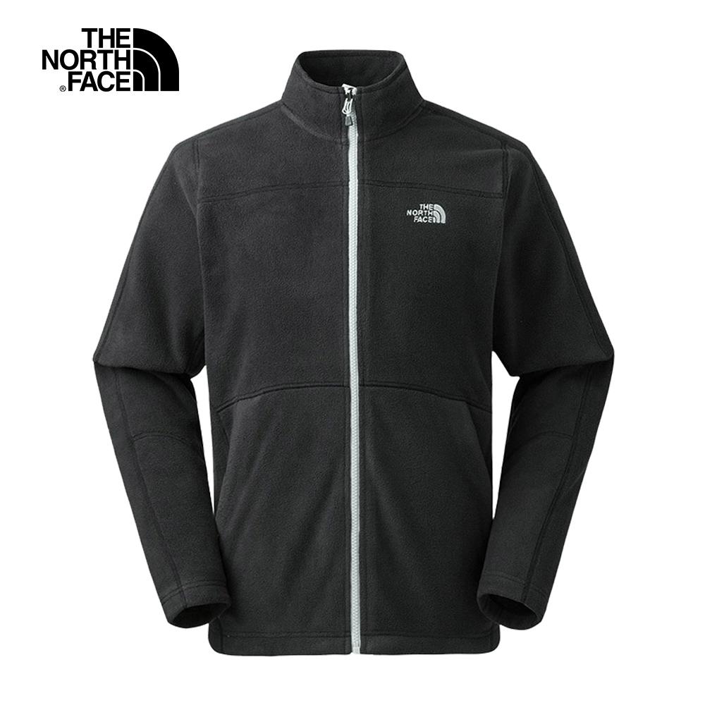 The North Face北面男款黑色保暖抓絨外套|368KJK3