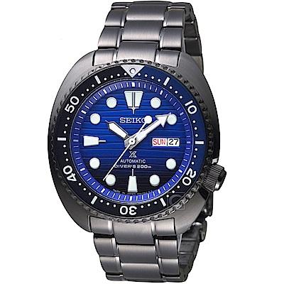 SEIKO精工PROSPEX DIVER SCUBA潛水機械錶(SRPD11J1)-黑鋼
