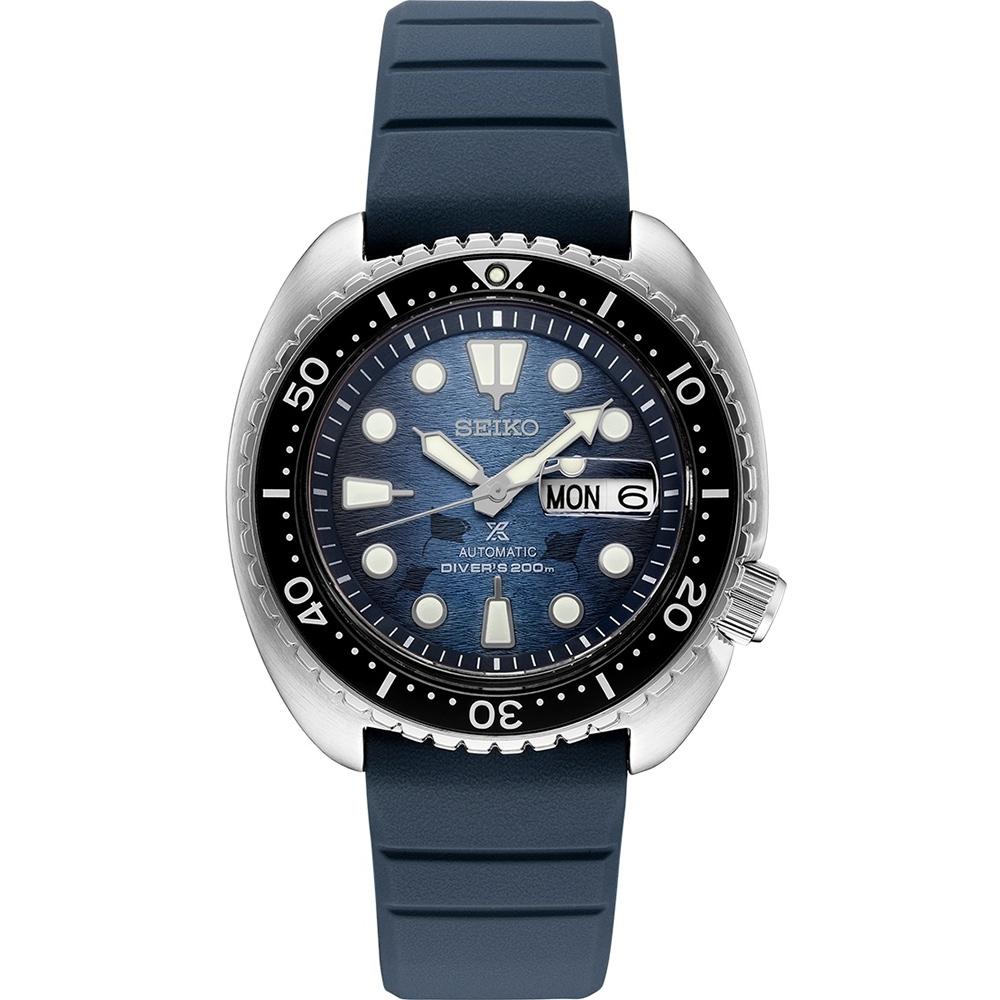 SEIKO 精工 PROSPEX 魔鬼魚海龜王200米潛水機械錶(4R36-06Z0H)SRPF77K1-45mm