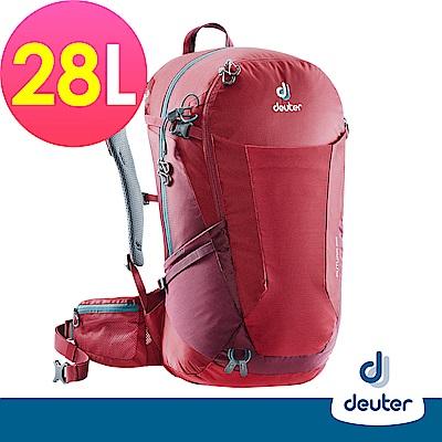 【德國DEUTER】 FUTURA 28L透氣網架背包(3400518莓紅/紫紅/登山包)
