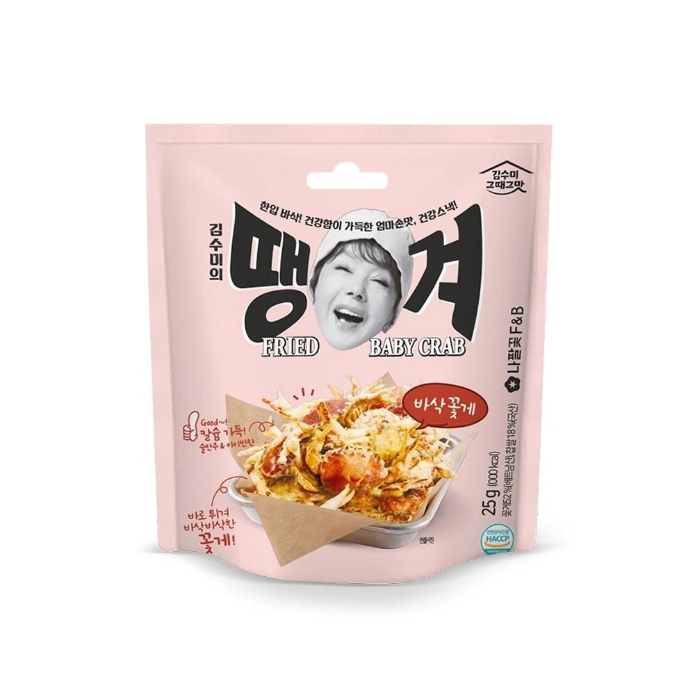 韓味不二【韓國原裝】金守美花蟹餅乾(35g)