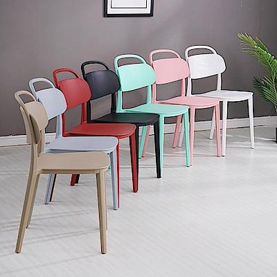 【日居良品】美式弧形美背時尚餐椅/休閒椅(7色可選) @ Y!購物