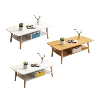 【Incare】北歐簡約風DIY雙層抽屜桌(三款可選)