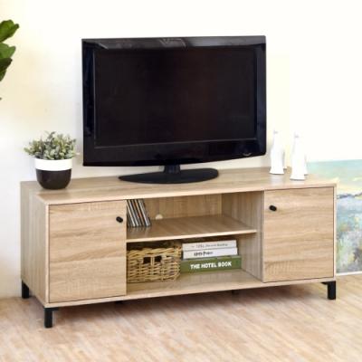 [時時樂限定] HOPMA DIY巧收北歐二門電視櫃-寬120.5 x深40 x高48.5cm