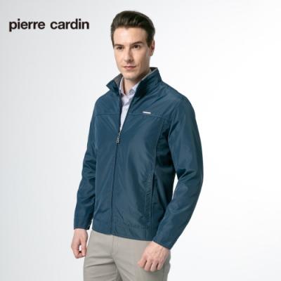 Pierre Cardin皮爾卡登 男裝  細格紋立領休閒薄外套-藍色(5185661-35)
