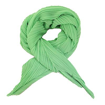 ISSEY MIYAKE 三宅一生 PLEATS PLEASE 四褶素面斜紋圍巾(粉綠)
