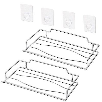歐奇納 OHKINA 隨手貼系列_面紙盒衛生紙置物架組_二入組