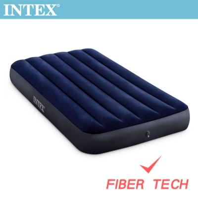INTEX 經典單人加大(新款FIBER TECH)充氣床墊-寬99cm(64757)