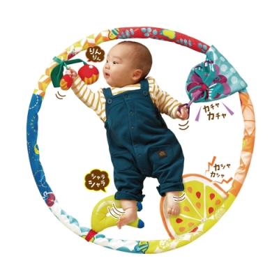 日本People-手腳動感遊戲圈-0m+(咬舔玩具/固齒器/360度全方位刺激大腦發展)