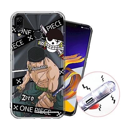 授權正版 航海王 ASUS ZenFone 5Z 透明軟式空壓殼(封鎖索隆)